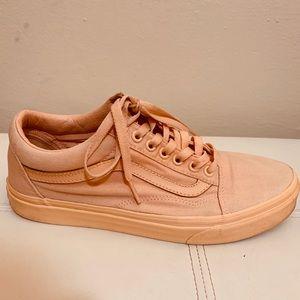 Mono canvas old skool vans color peach